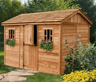 8 x 12 cabana cedar garden shed there are lots of places to put the cabana cedar storage shed poolside in the backyard where the kids play