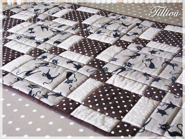 Beige & brown patchwork