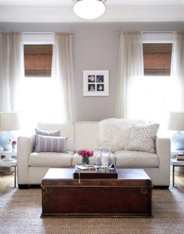 woven wood blinds with sheers