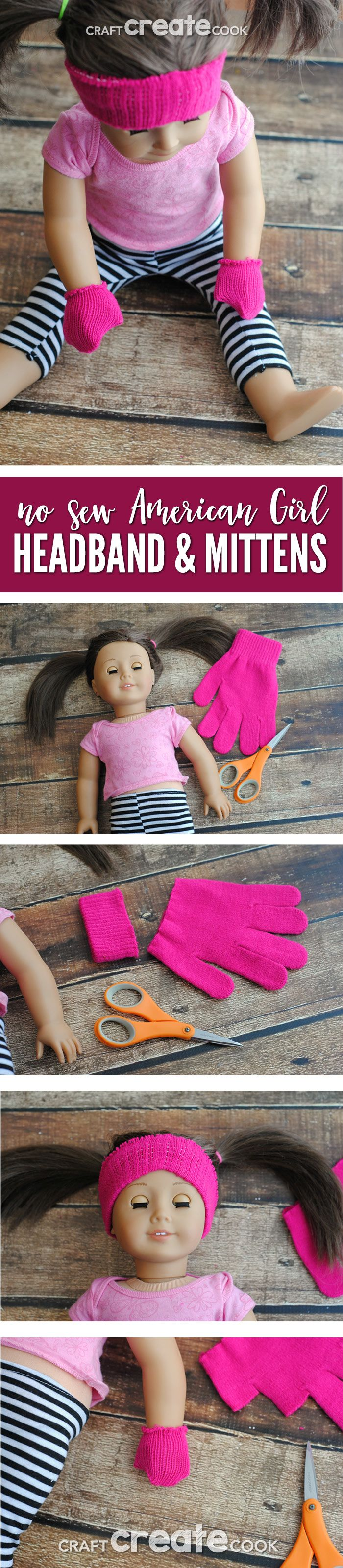 Plastic headbands for crafts - Keep Your American Girl Doll Warm And Toasty With Our No Sew Headband