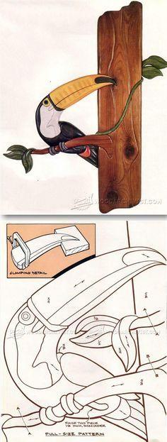 Toucan - Intarsia Projects, Tips and Techniques   WoodArchivist.com