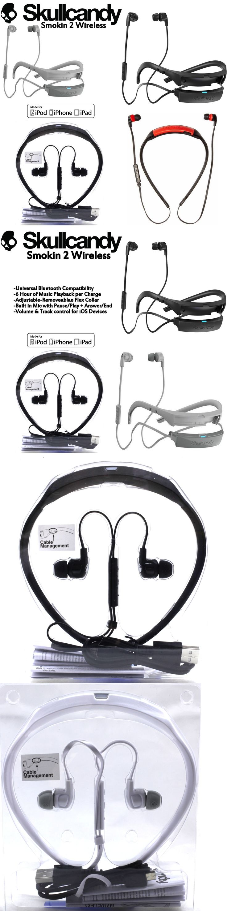 electronics: New Skullcandy Smokin Buds 2 Wireless Bluetooth Earphones With Mic Black White BUY IT NOW ONLY: $35.97