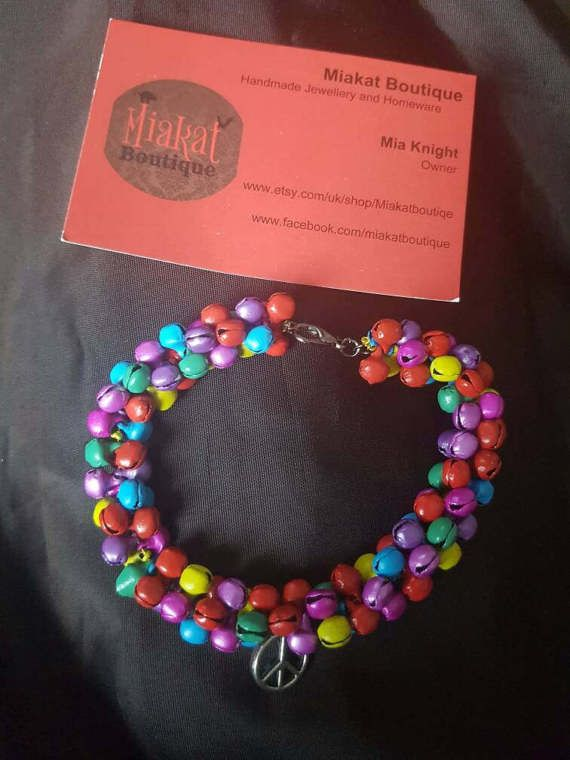 Hey, I found this really awesome Etsy listing at https://www.etsy.com/uk/listing/519460453/colourful-beaded-bracelet-with-a-peace