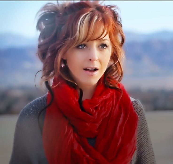 """Still of Lindsey Stirling from her music video on youtube """"Oh Come, Emmanuel - Lindsey Stirling & Kuha'o Case"""" (pinned because of hair!) https://www.youtube.com/watch?feature=player_detailpage&v=ozVmO5LHJ2k"""