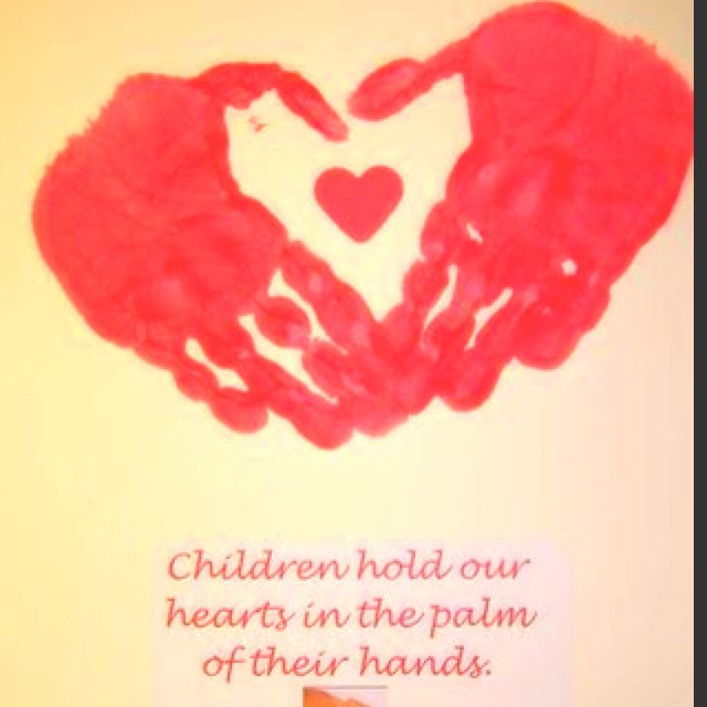 I Love Any Handprint Or Footprint Project. This Handprint Heart Valentine  Is Darling.