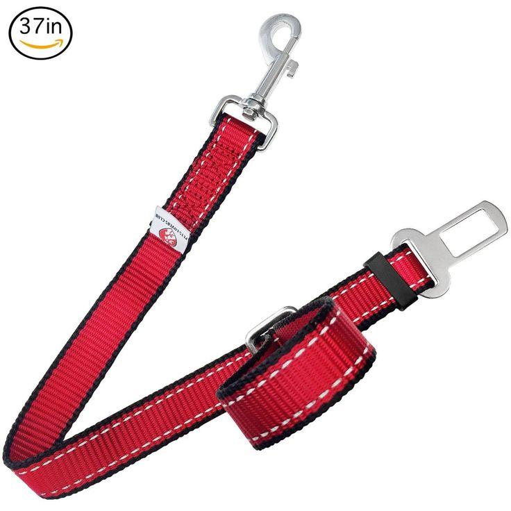 PetsLovers Premium Pet Seat Belt (22-37in - Large Pets)