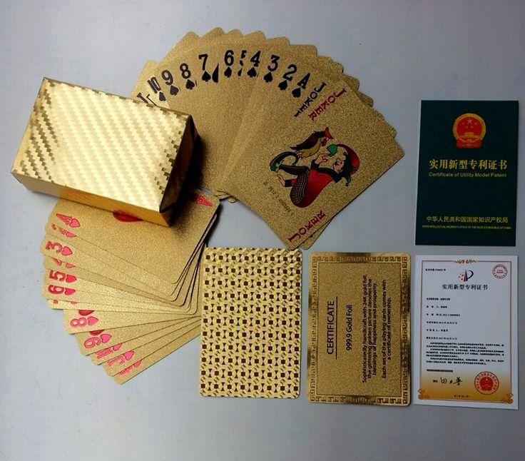 Golden Playing Cards Deck gold foil poker set Magic card 24K Gold Plastic foil poker Durable Waterproof Cards magic81150   http://www.dealofthedaytips.com/products/golden-playing-cards-deck-gold-foil-poker-set-magic-card-24k-gold-plastic-foil-poker-durable-waterproof-cards-magic81150/