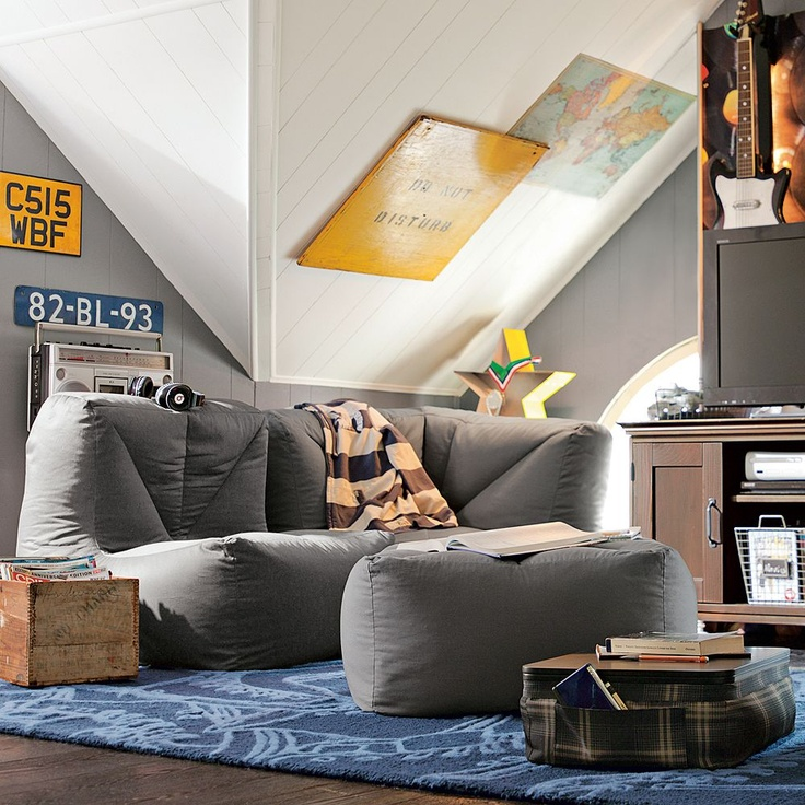 Cool Transformation From The Usual Bean Bag To A Comfy Sectional