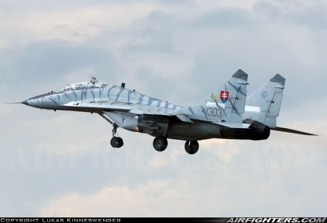 "Slovakian Air Force Mikoyan-Gurevich MiG-29UB,""Fulcrum""  Radom - Sadkow (EPRA) - Poland, August 23, 2013."