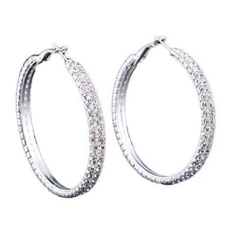 Novelty Fad Accessory Silver Plated 2-Row Dazzling Crystal - Tomtop.com