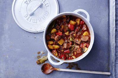 Kartoffel-Hirsch-Gulasch mit Paprika