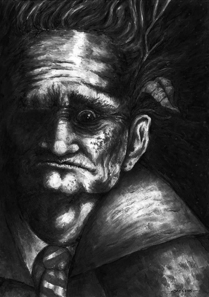"""Aaron Dries' artwork for Ramsey Campbell's """"Out of the Woods."""""""