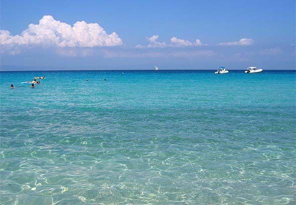 Armenistis blue water