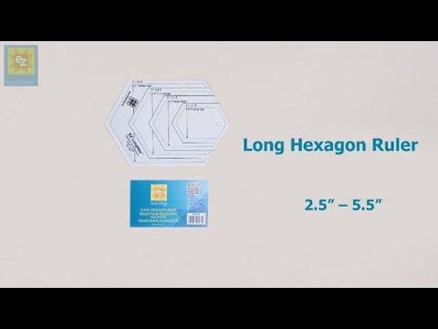 How to use the EZ Quilting Long Hexagon Ruler with Jennie Rayment