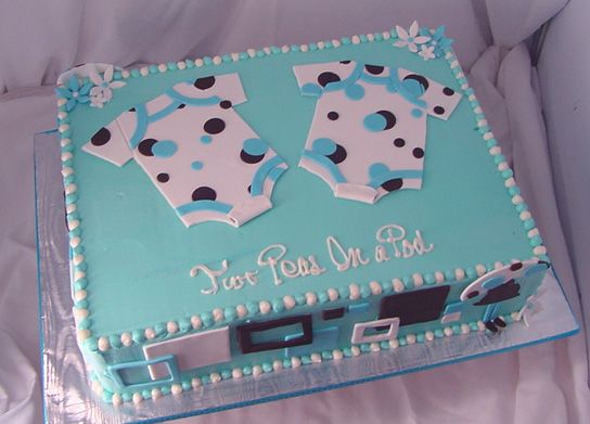Cake For A Twin Baby Shower In 2019 Cakes Baby Shower Cakes