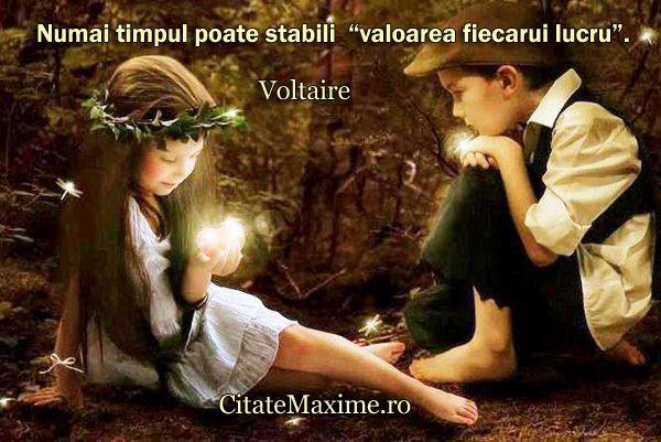 """""""Numai timpul poate stabili """"valoarea fiecarui lucru""""."""" #CitatImagine de Voltaire Iti place acest #citat? ♥Distribuie♥ mai departe catre prietenii tai. #CitateImagini: #Valoare #Voltaire #romania #quotes Vezi mai multe #citate pe http://citatemaxime.ro/"""
