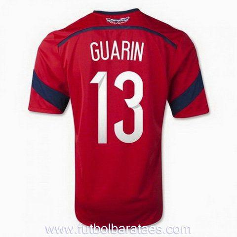 Nueva camiseta de Guarin 2nd Colombia 2014-2016 baratas