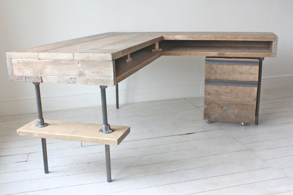 desk for office on pinterest rustic desk farm tables and rustic country homes chic lshaped office desk