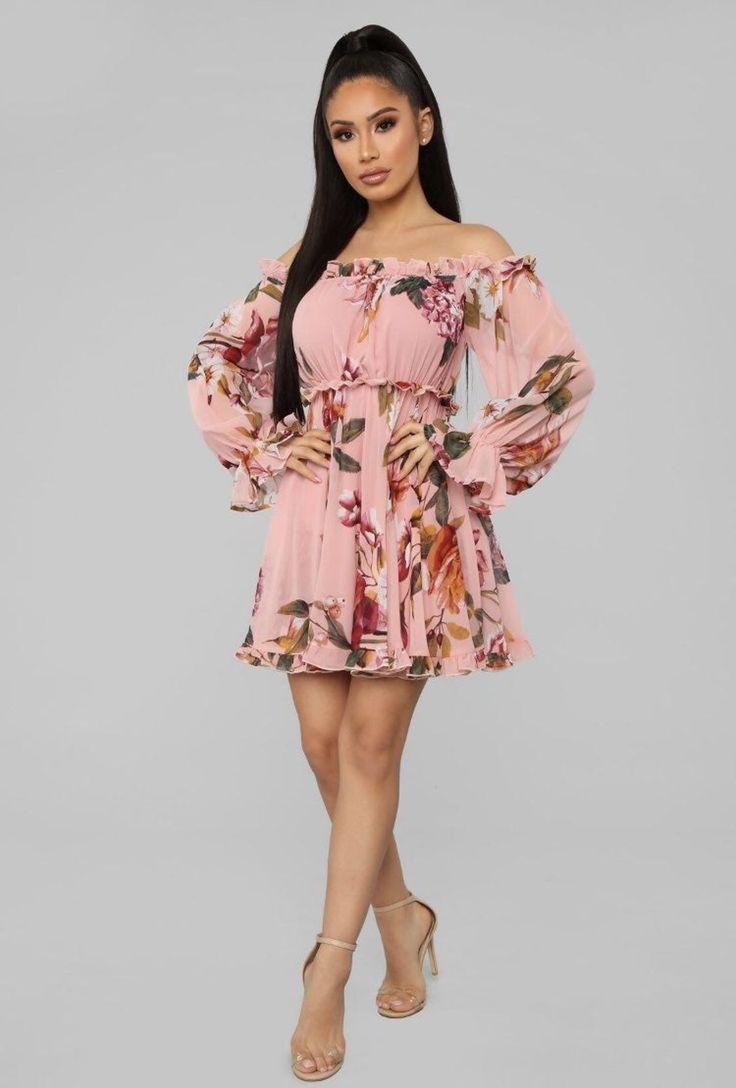 Fashion Nova Floral Dress in 2020 Pink mini dresses