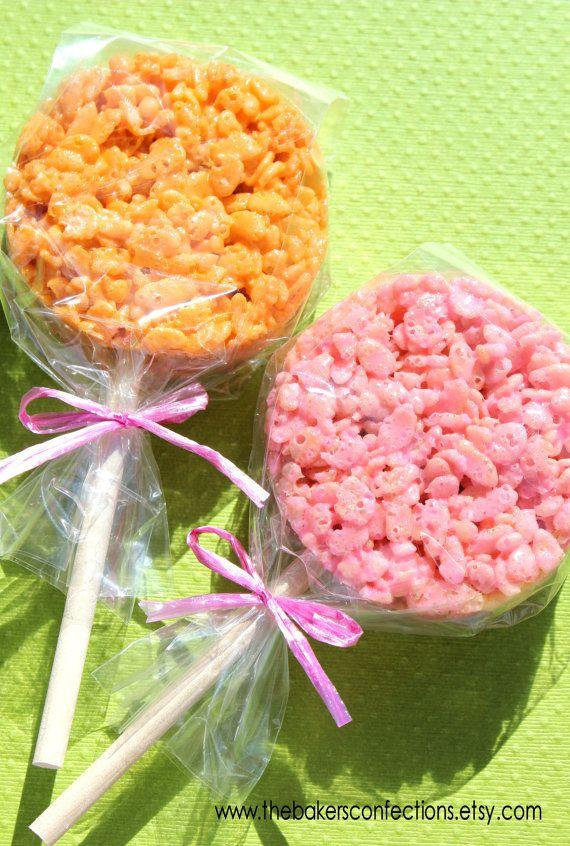 Wooden Dessert Sticks for Rice Crispy Pops...cute shower favor