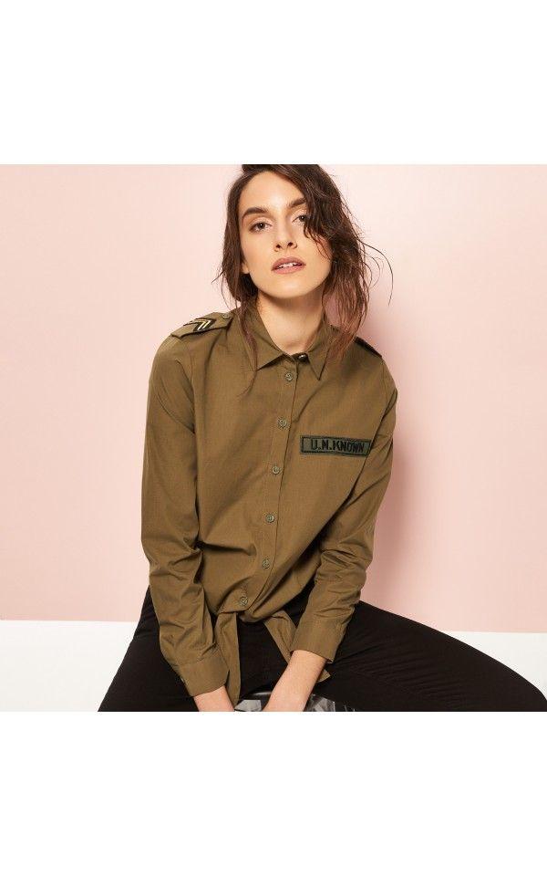 Koszula khaki, Special offer LT, zielony, RESERVED