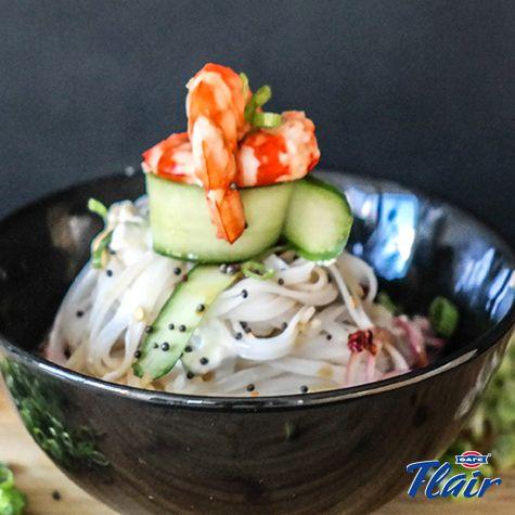 Ταϋλανδέζικα noodles με γαρίδες και Flair Cottage Cheese. Δες τη συνταγή εδώ: http://bit.ly/2vCBvN6