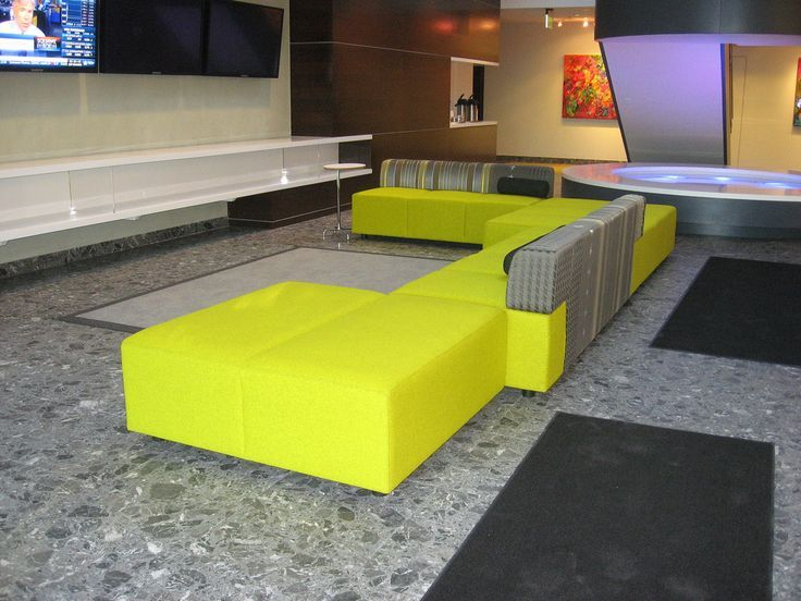 Coalesse Await Seating reflecting master craftsmanship of materiality and  perfection in the reception space. Office LoungeOffice ...