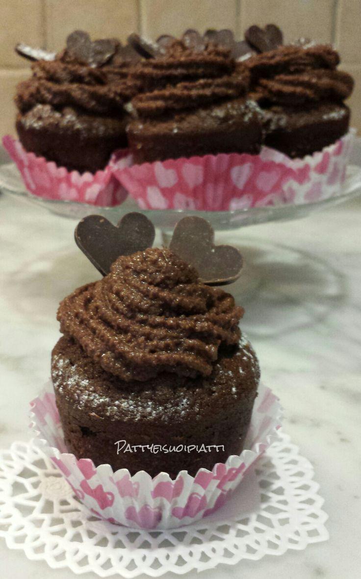 Cupcakes di San Valentino al cioccolato