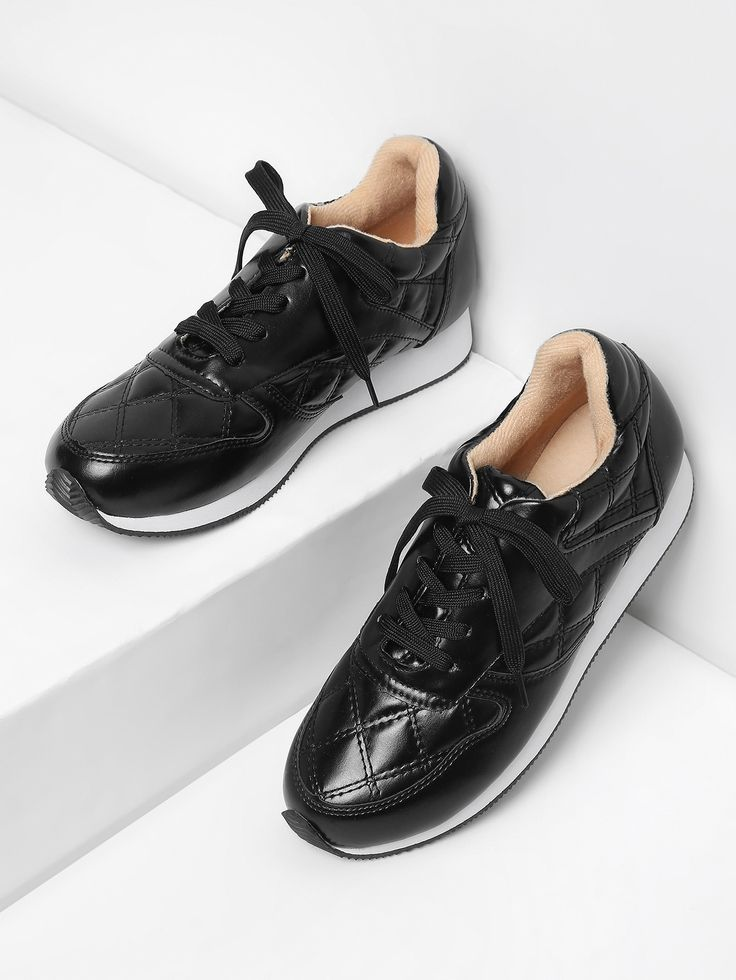 Shop Lace Up PU Low Top Sneakers online. SheIn offers Lace Up PU Low Top Sneakers & more to fit your fashionable needs.