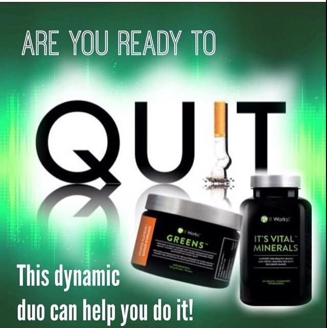 *FREE PRODUCT GIVE AWAY* Are you ready to break that nasty habit??!! This duo will get you started down the path to a smoke free lifestyle, BUT if you join as a loyal customer today and save %40 off, my team and I will throw in our Anti-Stress formula Confianza FOR FREE to help boost the process and keep you from losing your head while breaking the habit and making the choice to QUIT!!! 100% ALL NATURAL INGREDIENTS!! Message me now to find out why this duo works so well…