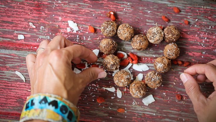 We lovingly hand roll our protein balls in Sussex by the Sea