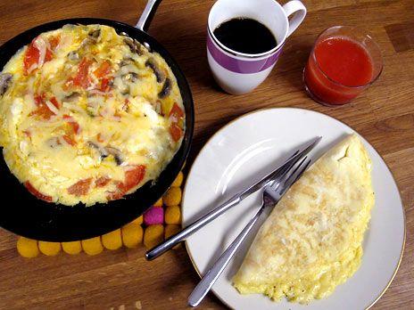 Omelett på två olika sätt | Recept från Köket.se