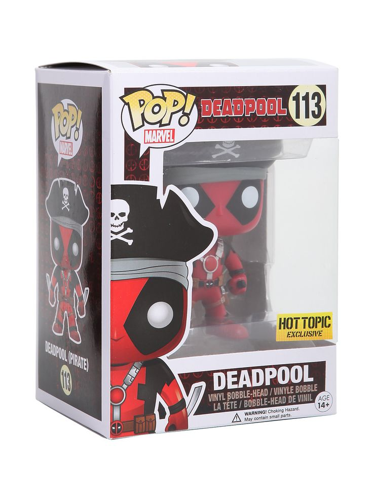 Deadpool With Pirate Hat Pop Figure By Funko Hot Topic