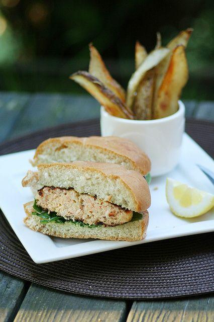 salmon burger | Salmon & PNW | Pinterest