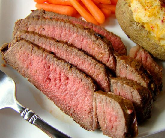 Make and share this Steakhouse London Broil recipe from Food.com.