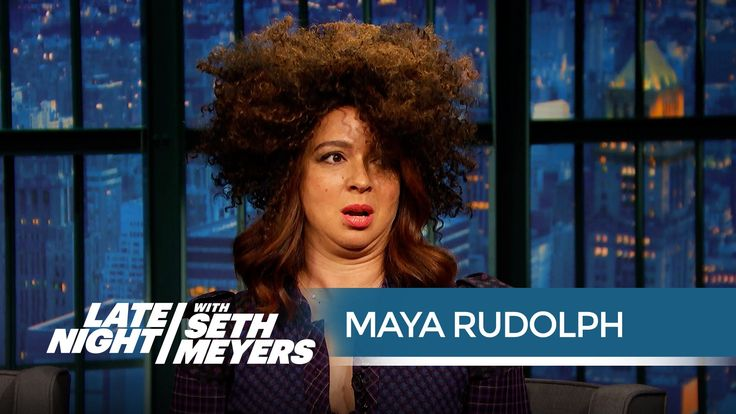 """Maya Rudolph's Rachel Dolezal Impression - Late Night with Seth Meyers-Maya Rudolph, perhaps best known for her exaggerated impressions of Whitney Houston and Donatella Versace from the """"Saturday Night Live"""" days, has just added Rachel Dolezal to the mix. The actress said people have been begging her for one since the scandal first broke. """"It happens to me everyday,"""" Rudolph said on """"Late Night with Seth Meyers"""" Monday. """"People say, 'Oh, it's too bad you haven't been on """"SNL"""" since 2007!"""
