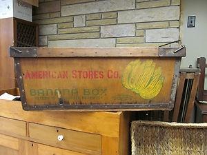 Antique Wooden Banana Box Ebay Antiques Pinterest