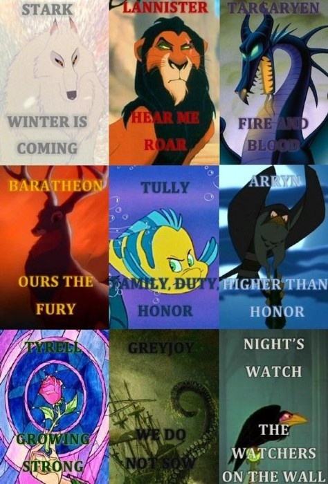 #GameofThrones, a Disney version // This is cool.