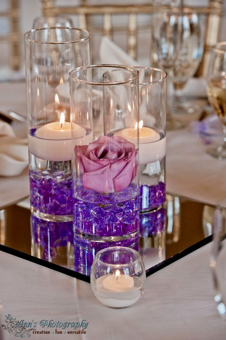 Clear Vase Centerpieces Ideas |  Centerpiece Ideas Using Cylinder Vases