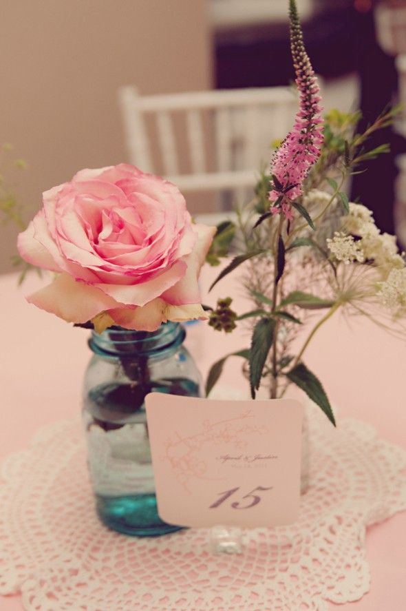 Vintage Style Wedding Centerpieces