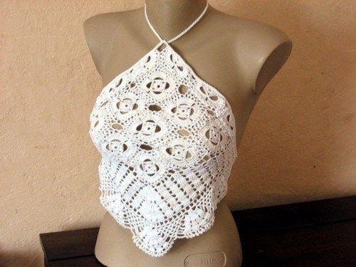 Pattern only - a crochet tank top open back