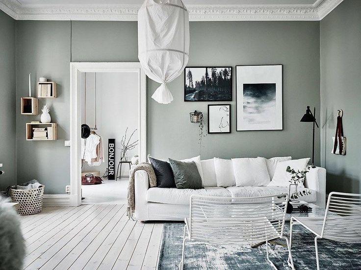 Minimalistische ruimtes met groene muren nu op de