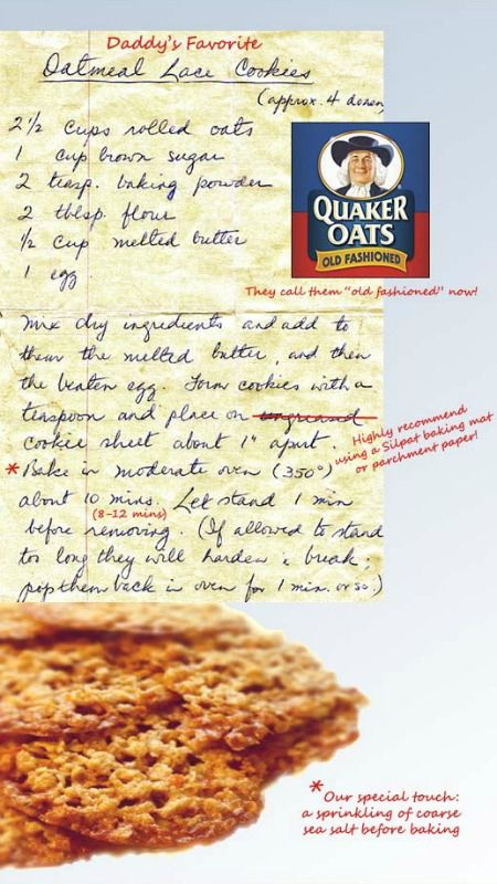 Our Mama's Oatmeal Lace Cookie Recipe ~ They're super easy to make, buttery and chewy