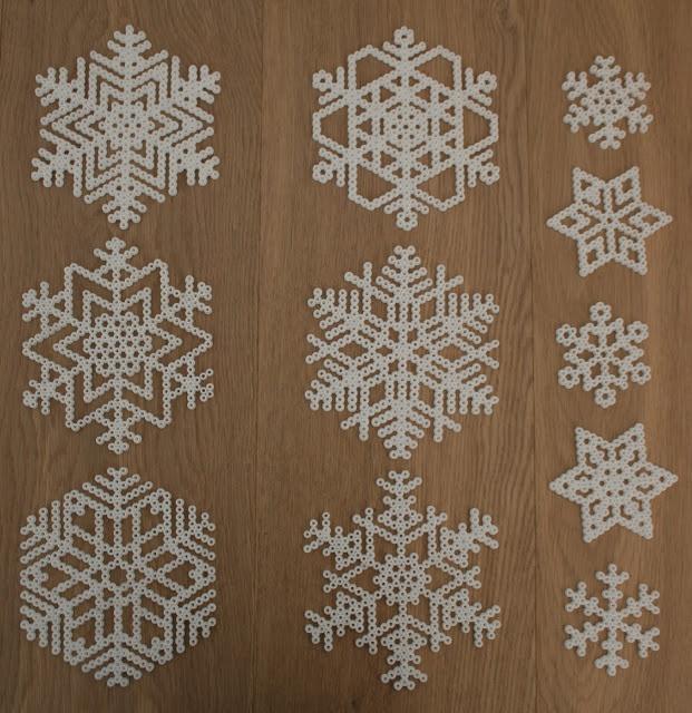 Winter snowflakes hama perler beads by Mamma Mia's Verden ✮