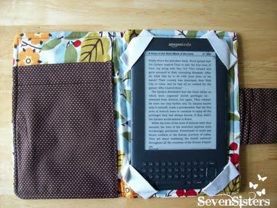 Tutorial for a Kindle case. I'm also thinking this would be perfect for my Iphone.