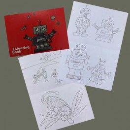 Livre de coloriages grand format Robots