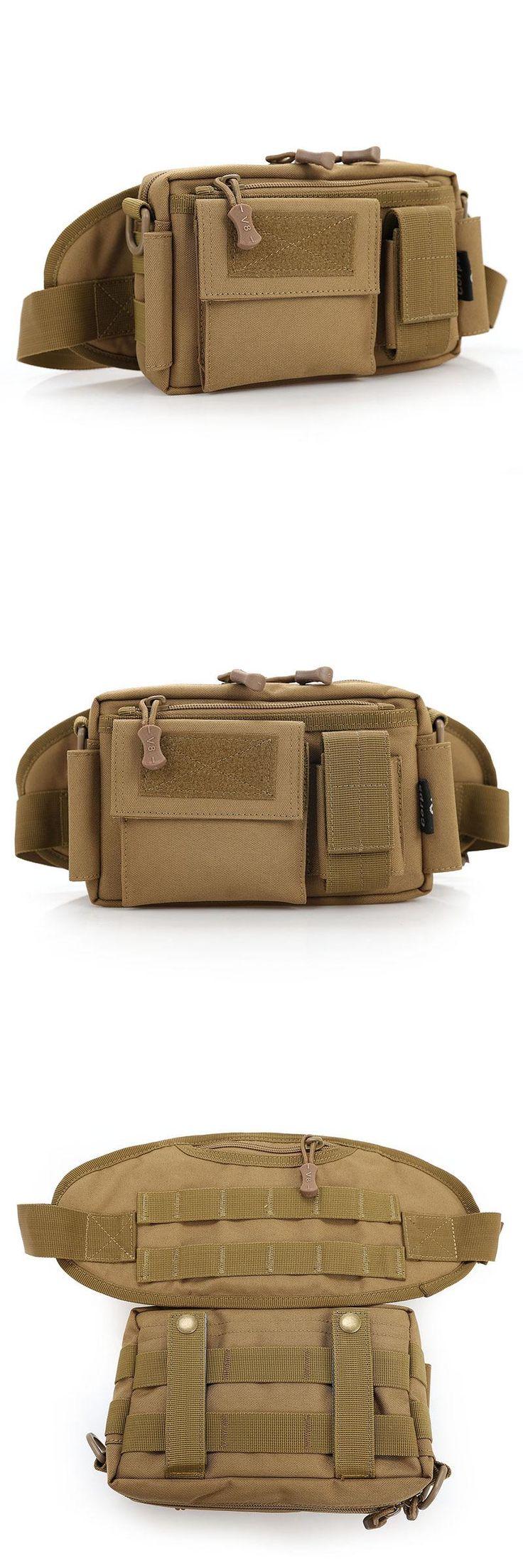 [Visit to Buy] Men's Waist Bag Military Equipment Men Bag Wallet Waist Packs Mobile Phone Case Waterproof Nylon Material Messenger Bags #Advertisement