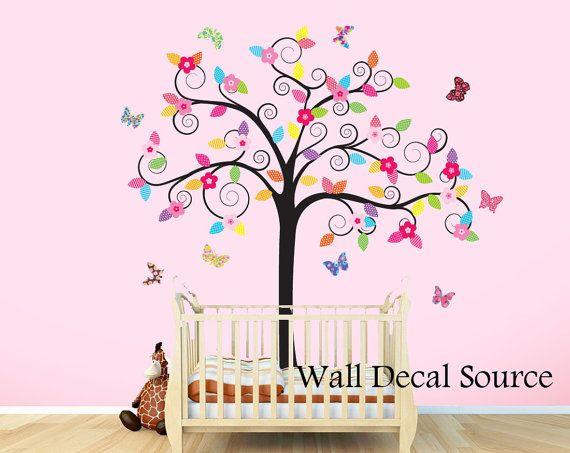 Vinyl Wall Decal Sticker Kids Tree Nursery Butterfly  sc 1 st  Elitflat & Tree Butterfly Wall Decal - Elitflat