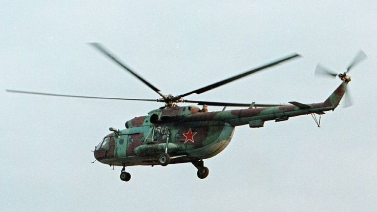 An Mi-8 helicopter similar to the one pictured was shot down over Syria on Monday.