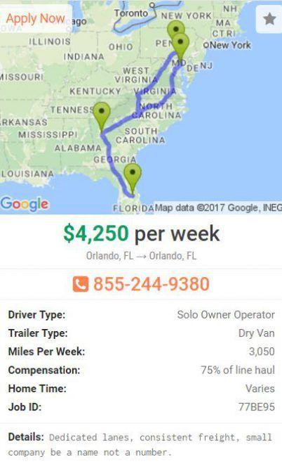 Dedicated Driving Job